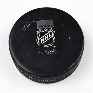 Philadelphia Flyers Game Used Puck * March 8, 2012 vs The Florida
