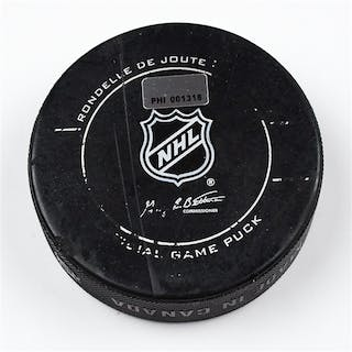Philadelphia Flyers Game Used Puck * March 18, 2012 vs The Pittsburgh