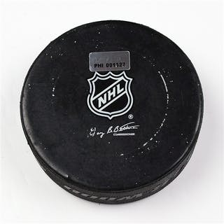 Philadelphia Flyers Game Used Puck * March 20, 2012 vs The Florida
