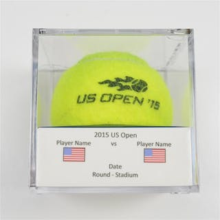 Marin Cilic vs. Guido Pella Match-Used Ball - Round 1 - Louis Armstrong