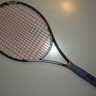 Isner, John Black Prince Racquet, Match-Used, Men's Singles First