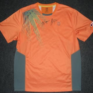 Bryan, Mike Orange K-Swiss Shirt Match-Worn, Men's Doubles Final