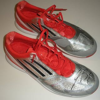 Tsonga, Jo-Wilfried Adidas Shoes, Match-Worn, Men's Singles Second