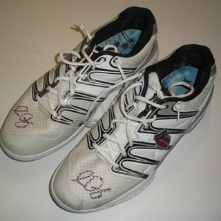 Querrey, Sam K-Swiss Shoes, Match and/or Practice-Worn, Autographed