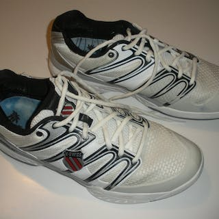 Bryan, Bob White Pair of K-Swiss Shoes, Match and/or Practice-Worn
