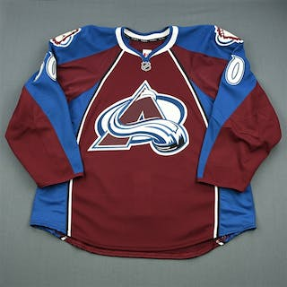 Moffie, Lee Burgundy Set 1 - Game-Issued (GI) Colorado Avalanche 2013-14