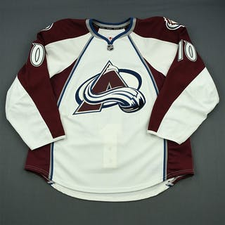 Olver, Mark White Set 2 - Game-Issued (GI) Colorado Avalanche 2013-14