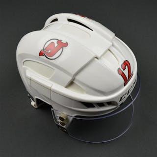 Boucher, Reid White, CCM Helmet w/ Oakley Shield New Jersey Devils