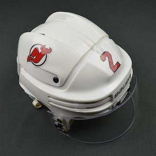 Moore, John White, Bauer Helmet w/ Oakley Shield New Jersey Devils