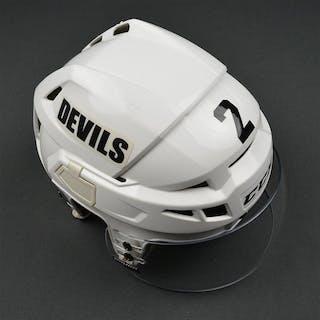 Zidlicky, Marek White, CCM Helmet w/ Bauer Shield New Jersey Devils