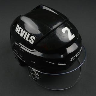 Zidlicky, Marek Black, CCM Helmet w/ Bauer Shield New Jersey Devils
