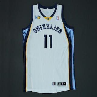 Conley, Mike * White Regular Season w/10th Anniversary Patch - Photo-Matched