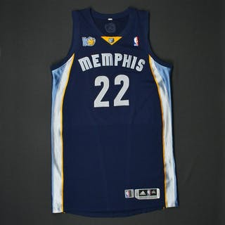 Gay, Rudy * Navy Regular Season w/10th Anniversary Patch Memphis Grizzlies