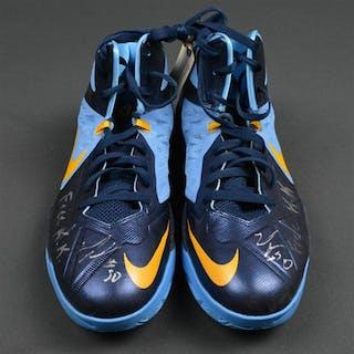 Randolph, Zach * Nike - Aqua blue w/ Dark blue and gold trim - Worn