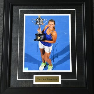Azarenka, Victoria Framed - Autographed 8x10 USTA 2012 Size:17.5 in