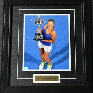 Azarenka, Victoria Framed - Autographed 8x10 USTA 2012 Size:17.5 in