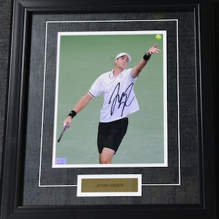 Isner, John Framed - Autographed 8x10 USTA 2012 Size:17.5 in H x 15.25 in W