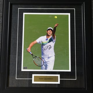 Querrey, Sam Framed - Autographed 8x10 USTA 2012 Size:17.5 in H x 15.25 in W