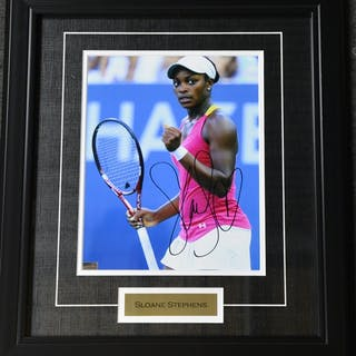 Stephens, Sloane Framed - Autographed 8x10 USTA 2012 Size:17.5 in