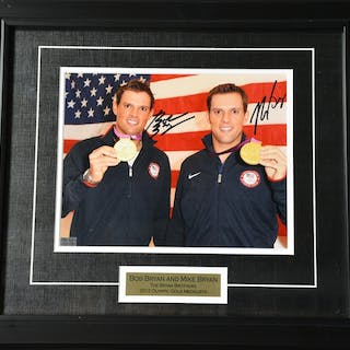 The Bryan Brothers Framed - Autographed 8x10 USTA 2012 Size:17.5 in