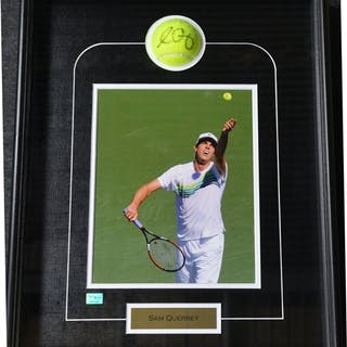 Querrey, Sam Framed - 8x10 & Autographed Ball USTA 2012 Size:19.5