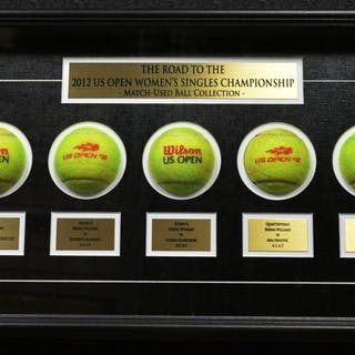 Serena Williams vs. Victoria Azarenka Framed - Road to the Championship