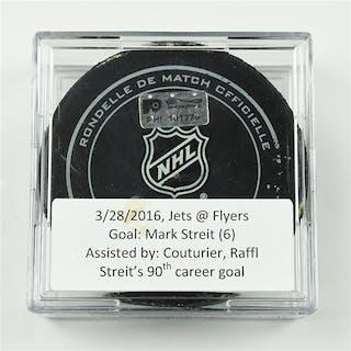 Streit, Mark March 28, 2016 vs. Winnipeg Jets (Flyers Logo) Philadelphia