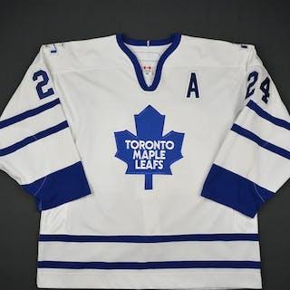 McCabe, Bryan * White Set 2 w/A Toronto Maple Leafs 2005-06 #24 Size: 56