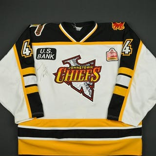Cain, Aaron * White - Autographed Johnstown Chiefs 1998-99 #44 Size: 56
