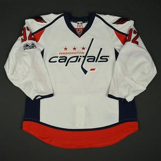 Kuznetsov, Evgeny White Set 2 w/ NHL Centennial Patch Washington Capitals