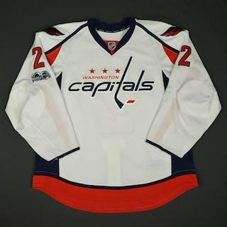 Niskanen, Matt White Set 2 w/ NHL Centennial Patch Washington Capitals