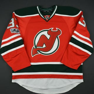 Auvitu, Yohann Retro Red and Green w/ NHL Centennial Patch - Game-Issued