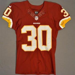 Biggers, E.J. Burgundy Regular Season Washington Redskins 2014 #30