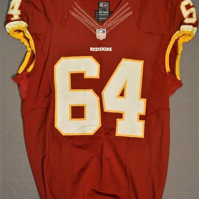 Golston, Kedric Burgundy Regular Season Washington Redskins 2014 #64