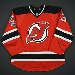 Noesen, Stefan Red Set 2 w/ NHL Centennial Patch New Jersey Devils