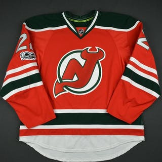 Quincey, Kyle Retro Red and Green w/ NHL Centennial Patch New Jersey
