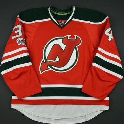 Santini, Steven Retro Red and Green w/ NHL Centennial Patch New Jersey