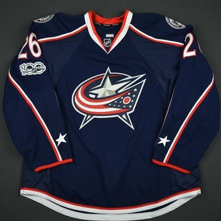 Quincey, Kyle Blue Set 2 - Game-Issued (GI) Columbus Blue Jackets