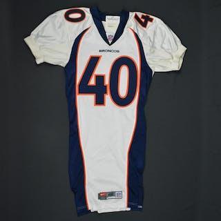 Carter, Dale * White- Authentic Pro-Cut - CLEARANCE Denver Broncos