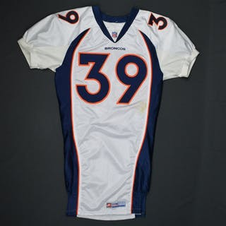 Crockett, Ray * White- Authentic Pro-Cut - CLEARANCE Denver Broncos