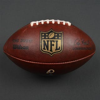 Game-Used Football Game-Used Football from September 25, 2016 vs.
