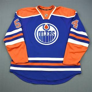 Vandevelde, Chris Blue Retro Set 1 Edmonton Oilers 2011-12 #54 Size: 58