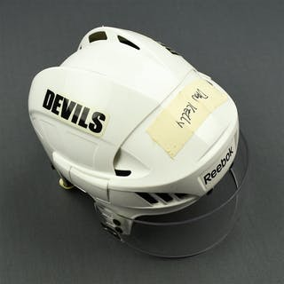 Kelly, Dan White Reebok Helmet with Oakley Shield New Jersey Devils 2010-12 #NA