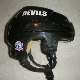 Wiseman, Chad Black CCM Helmet Albany Devils 2010-11 #NA