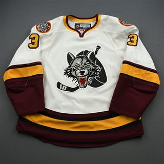 Denny, Chad White Chicago Wolves 2008-09 #3 Size: 56