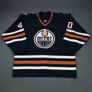 Sarno, Peter Blue Preseason Edmonton Oilers 2000-01 #40
