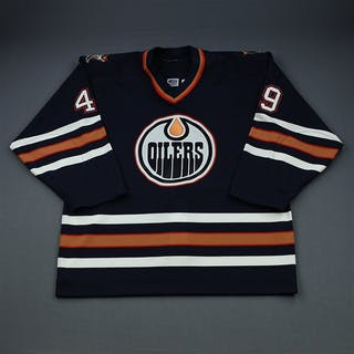 Comrie, Mike Blue Set 2 GI Edmonton Oilers 2000-01 #49 Size: 54