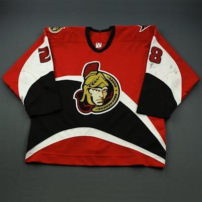 White, Todd * Red w/A (Ken Mace Estate) Ottawa Senators 2001-03 #28 Size: 56