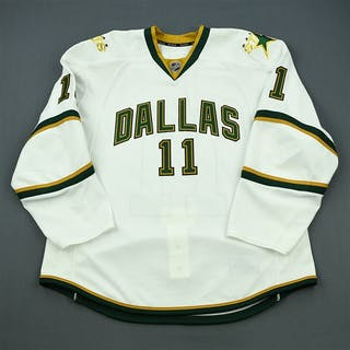 Dowell, Jake White Playoffs - Game-Issued (GI) Dallas Stars 2011-12