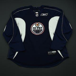 Strudwick, Jason Navy Blue Practice Jersey Edmonton Oilers 2008-09